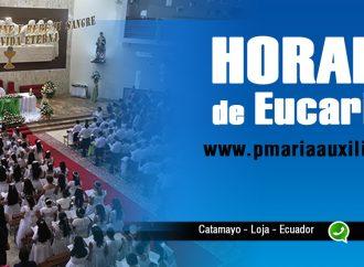 Horario Ordinario de las Eucaristías