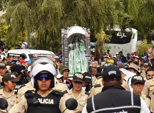 Programa Bienvenida Sagrada Imagen de la Santísima Virgen del Cisne a Catamayo